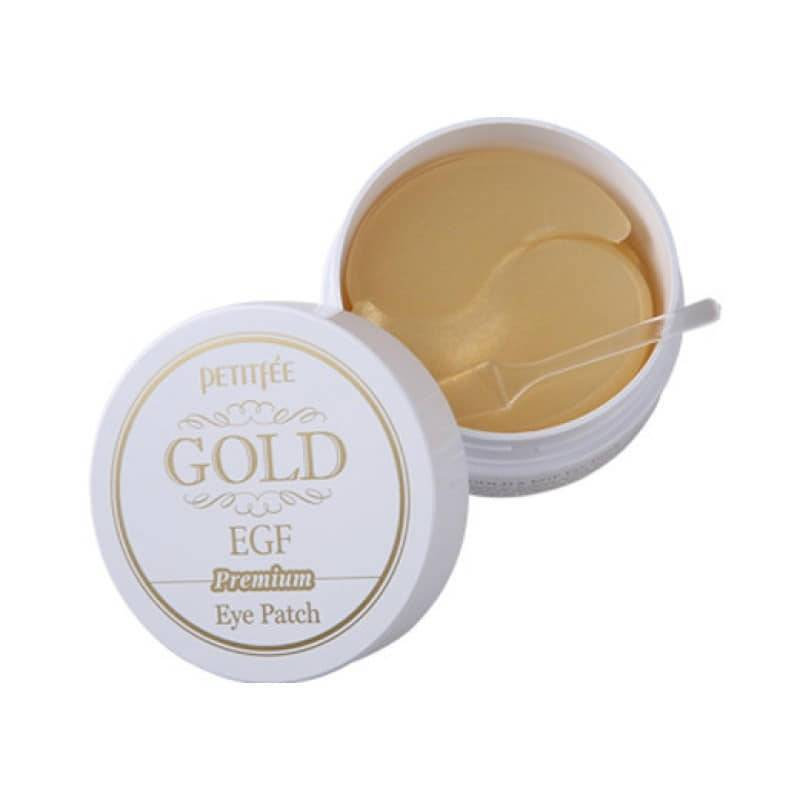 Патчи Премиальные Гидрогелевые C Коллоидным Золотом Эпидермальный Фактором Роста Petitfee GOLD Premium EGF Eye Spot Patch 4 - Фото 4