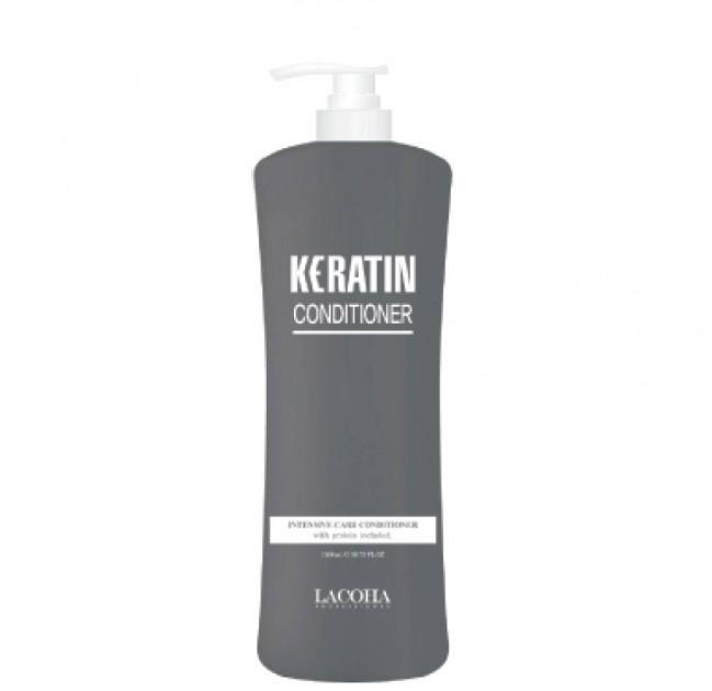 Укрепляющий кондиционер с кератином для волос AOMI LACOHA Keratin Intensive Care Conditioner 1500ml 2 - Фото 2
