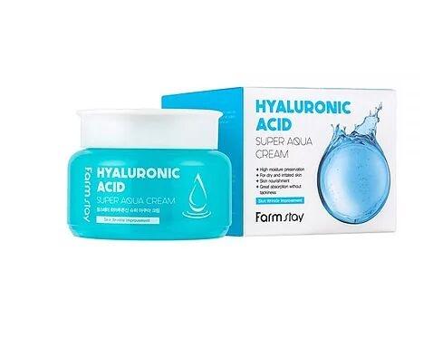 Крем для лица увлажняющий с гиалуроновой кислотой Farmstay Hyaluronic Acid Super Aqua Cream 100ml 0 - Фото 1