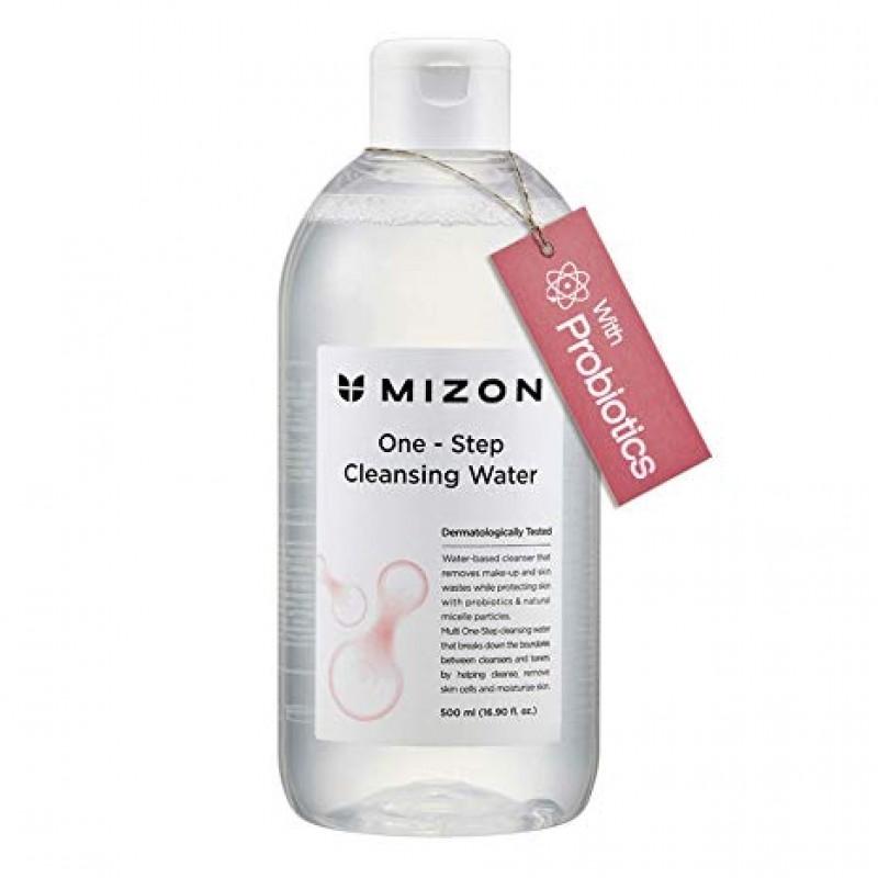 Мицеллярная вода для снятия макияжа с пробиотиками и натуральными экстрактами Mizon One-Step Cleansing Water 500ml 0 - Фото 1