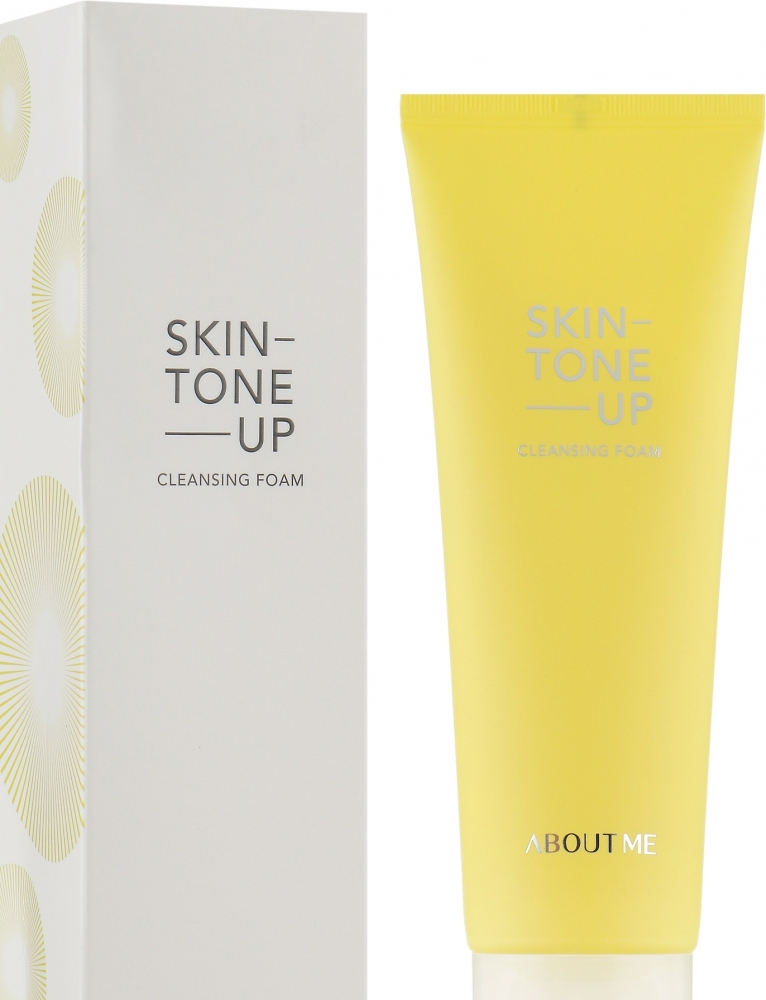 Пена для умывания осветляющая с экстрактом лимона About me Skin Tone Up Cleansing Foam 120 ml 0 - Фото 1
