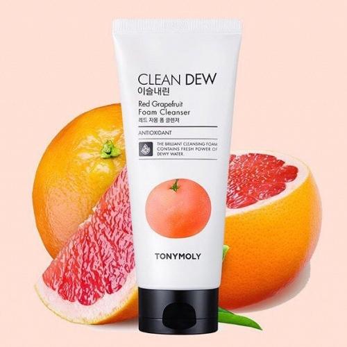 Пенка очищающая для умывания с экстрактом грейпфрута для лица Tony Moly Clean Dew Foam Cleanser Grapefruit 180ml 2 - Фото 2