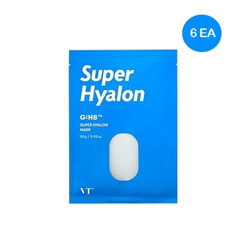 Маска тканевая ампульная увлажняющая с гиалуроновой кислотой для лица Vt Cosmetics Super Hyalon Mask 28g 2 - Фото 2