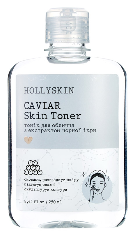Тонер для лица с экстрактом черной икры Hollyskin Caviar Skin Toner 250ml 0 - Фото 1