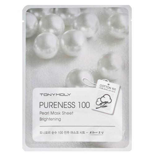 Маска тканевая осветляющая с жемчужной пудрой Tony Moly Pureness 100 Pearl Mask Sheet 21ml 2 - Фото 2