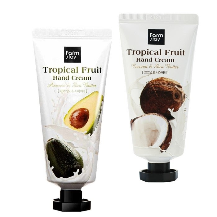 Набор из двух кремов для рук с экстрактом авокадо и кокоса FarmStay Tropical Fruit Hand Cream Avocado & Shea Butter And Coconut 100ml
