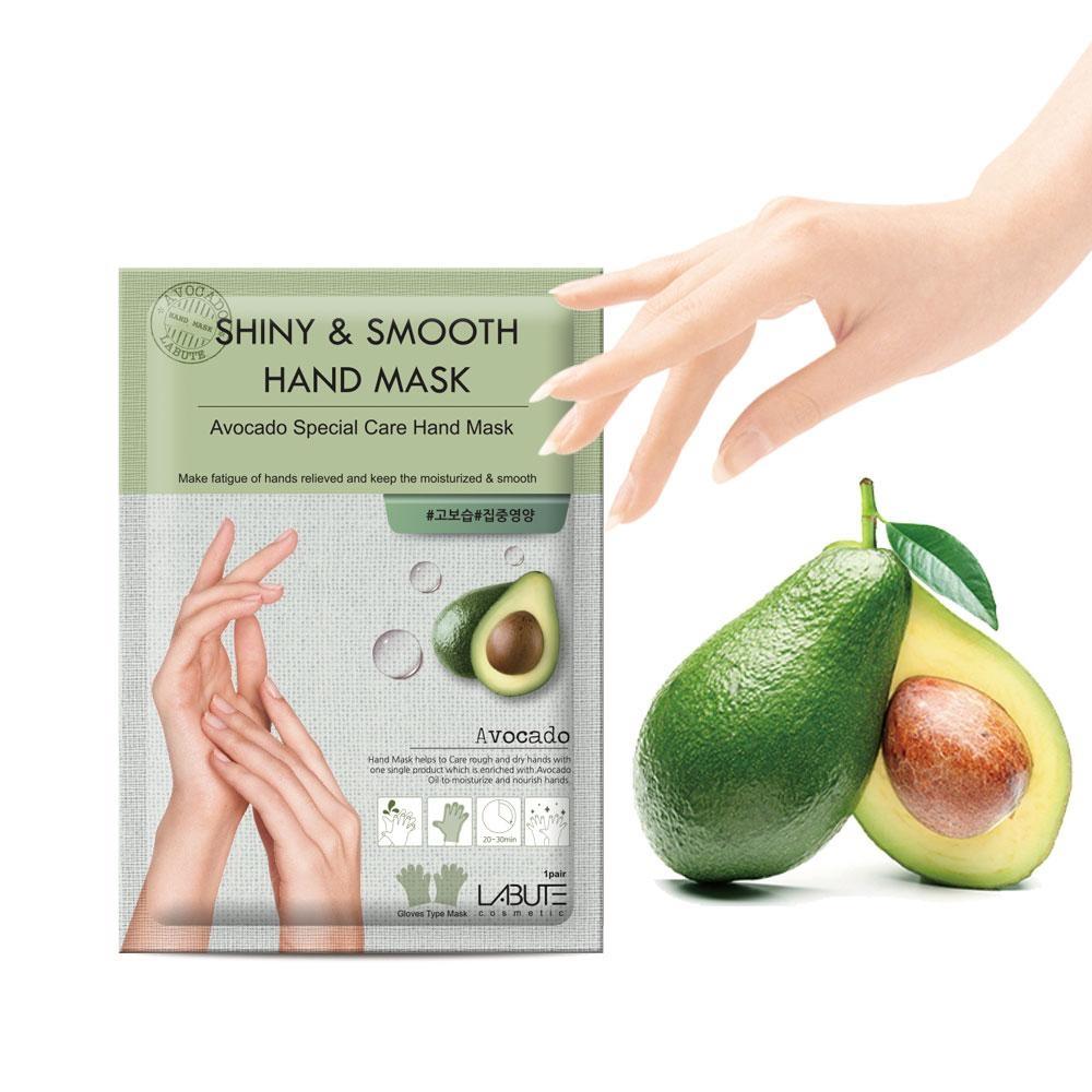 Маска Для Рук Питательная С Экстрактом Авокадо LABUTE Shiny & Smooth Hand Mask