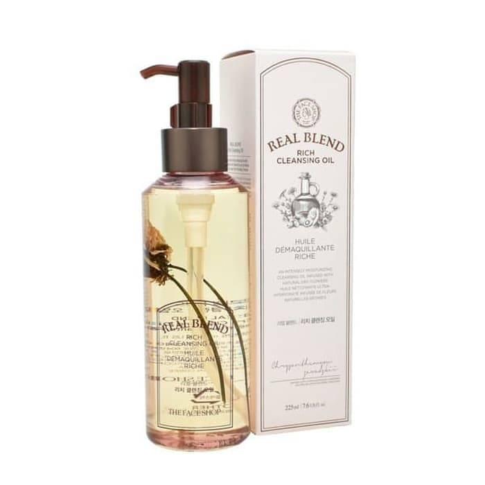 Гидрофильное Масло Натуральное Увлажняющее The Face Shop Real Blend Rich Cleansing Oil 225ml