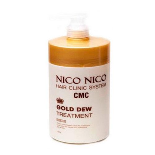 Восстанавливающая маска с компонентами золота для волос AOMI NICO NICO Gold Dew Treatment 1000ml 3 - Фото 3