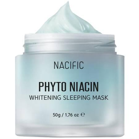 Маска ночная осветляющая с ниацинамидом Nacific Phyto Niacin Whitening Sleeping Mask 50ml 3 - Фото 2