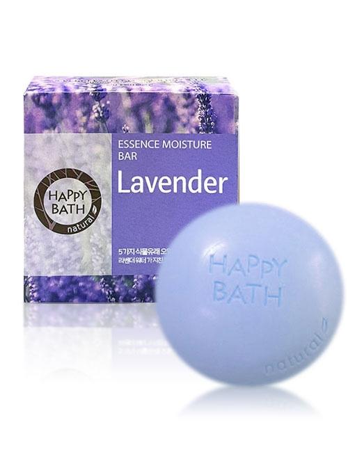Мыло увлажняющее с экстрактом лаванды Happy Bath Essence Moisturizing Bar Lavander 100g