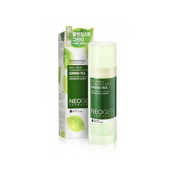 Освежающий твердый стик для очищения кожи Neogen Real Fresh Cleansing Stick Green Tea 80g
