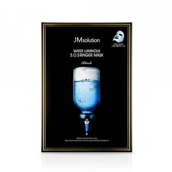 Маска Ультраувлажняющая С Пептидами И Гиалуроновой Кислотой JM Solution Water Luminous S.O.S Ringer Mask Black 10шт
