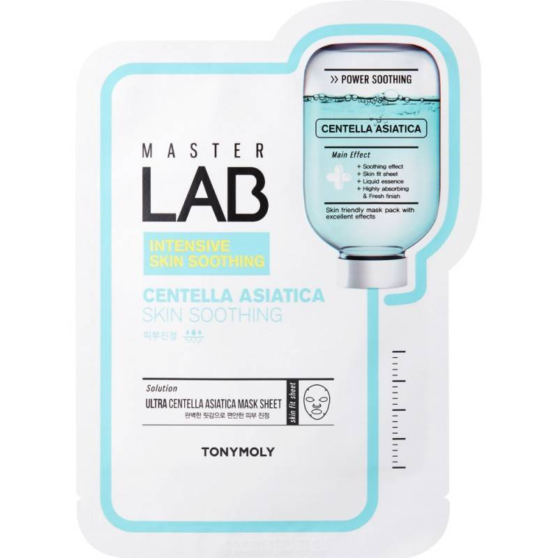 Маска Успокаивающая С Экстрактом Азиатской Центеллы Tony Moly Master Lab Mask Sheet Centella Asiatica 30ml