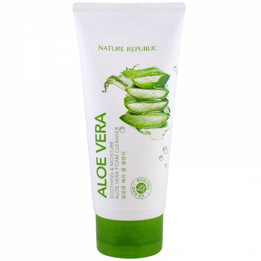 Пенка для умывания увлажняющая с экстрактом алое-вера Nature Republic Soothing And Moisture Aloe Vera Foam Cleanser 150ml