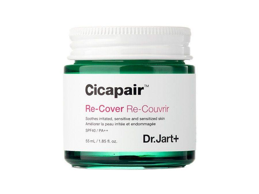 Восстанавливающий СС крем-антистресс с экстрактом центеллы Dr.Jart+ Cicapair Derma Green Solution Re-Cover SPF40 PA++ 55ml