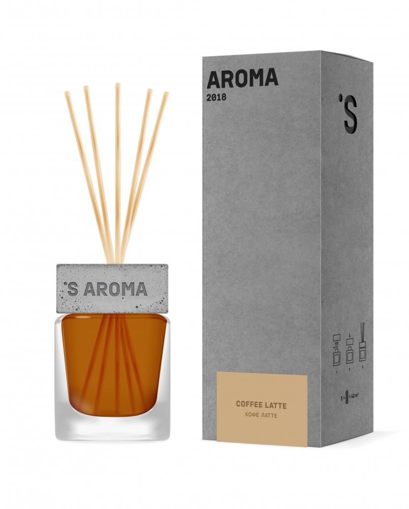 Аромадиффузор для дома и офиса с ароматом кофе латте Sister's Aroma Reed Diffuser
