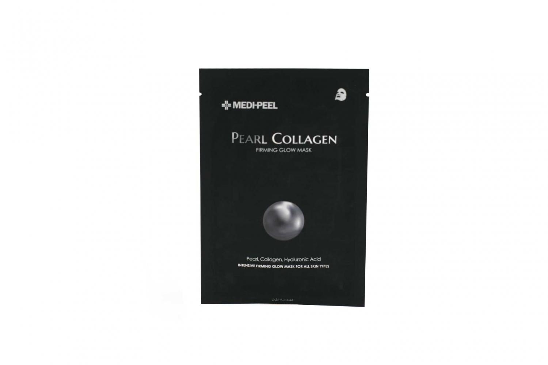 Маска тканевая омолаживающая с коллагеном и жемчугом Medi-peel Pearl Collagen Firming Glow Mask 25ml