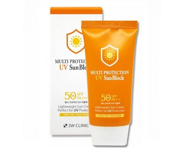 Солнцезащитный крем увлажняющий 3W Clinic Multi Protection UV Sun Block SPF50+ PA +++ 70ml