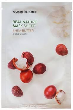 Маска Увлажняющая Питательная С Маслом Ши Nature Republic Real Nature Mask Sheet Shea Butter