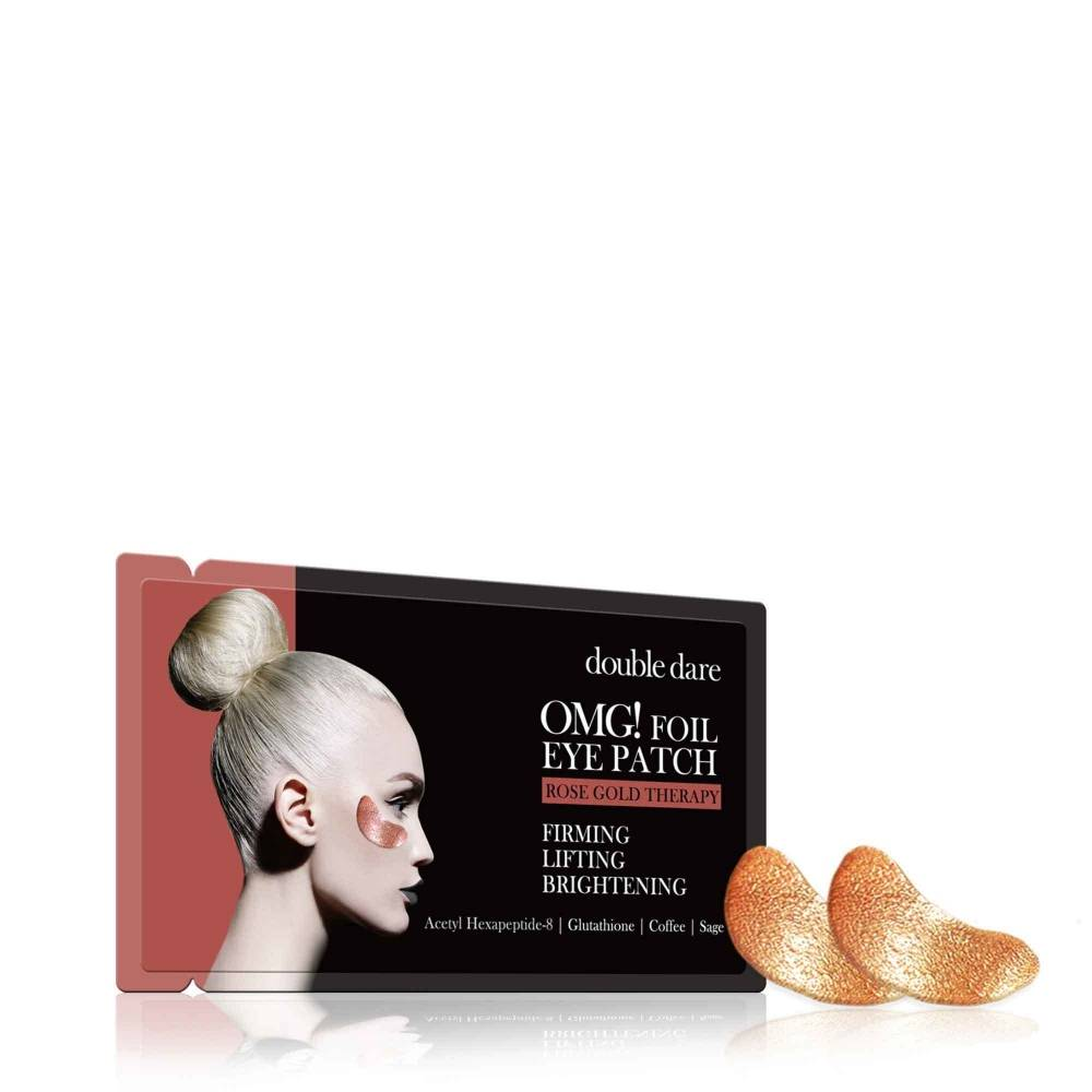 Патчи тонизирующие с гексапептидами Double Dare OMG! Foil Eye Patch Rose Gold Treatment