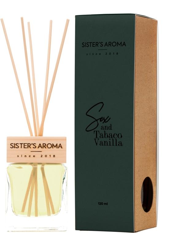 Диффузор для дома и офиса с ароматом табака и ванили Sister's Aroma Reed Diffuser