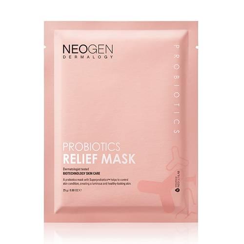 Успокаиваяющая тканевая маска с пробиотиками и ягодными экстрактами Neogen Probiotics Relief Mask 25g