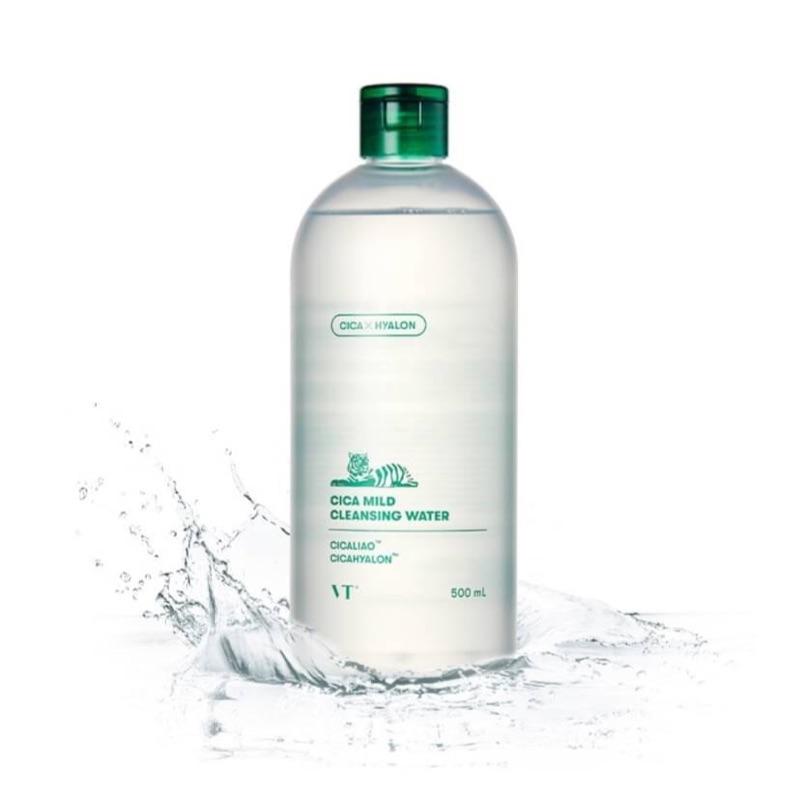 Вода для снятия макияжа успокаивающая  с экстрактом центеллы VT Cosmetics VT Cica Mild Cleansing Water 500ml