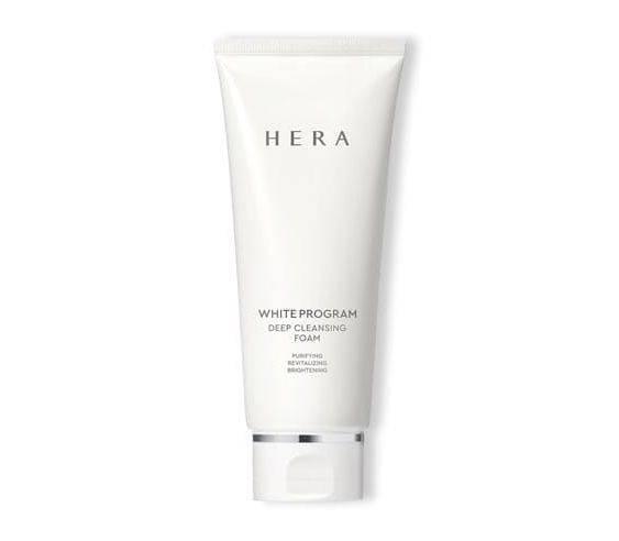 Люксовая пенка для умывания осветляющая с папаином Hera White Program Deep Cleansing Foam 50ml
