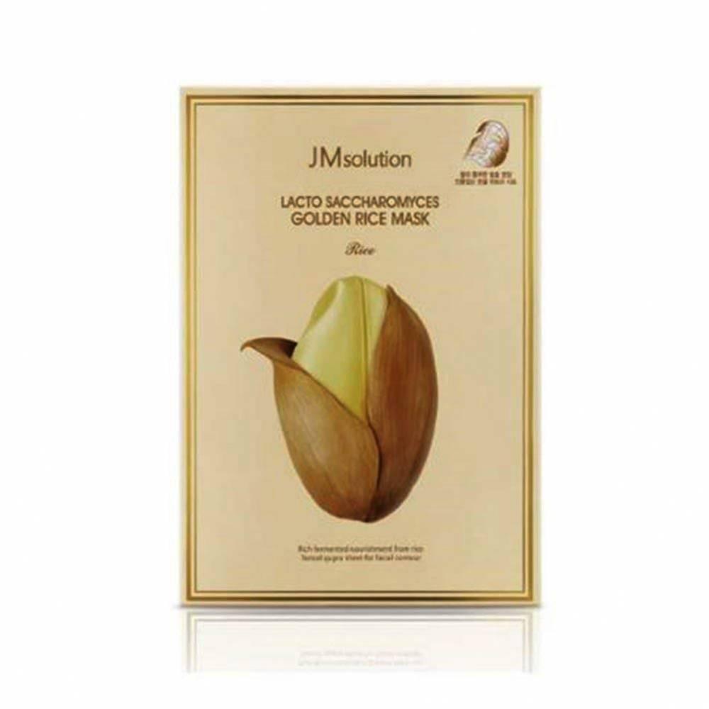 Маска  Для Выравнивания Тона С Экстрактом Риса JM solution Lacto Saccharomyces Golden Rice Mask