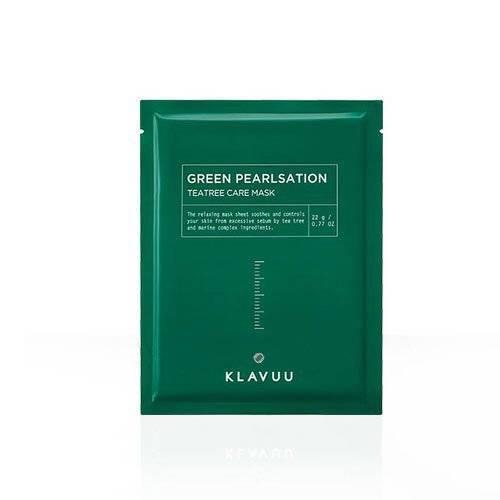 Маска Для Жирной И Проблемной Кожи С Маслом Чайного Дерева Klavuu Green Pearlsation Tea Tree Care Mask