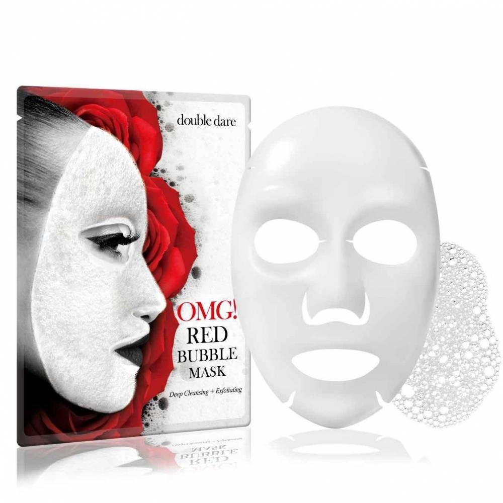Маска Кислородная  С Экстрактами Красных Растений Double Dare OMG! Red Bubble Mask