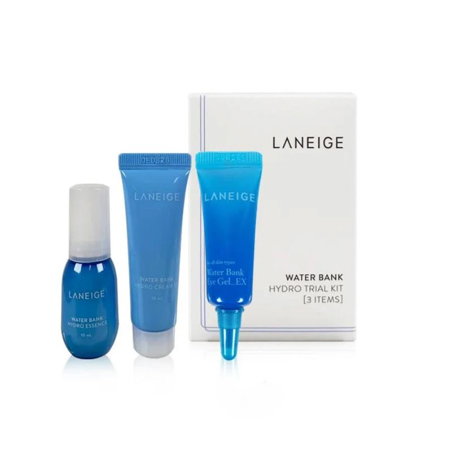 Набор Увлажняющий: Эссенция, Крем-Гель Для Век И Крем Для Лица Laneige Water Bank Hydro 3 Kit 23ml