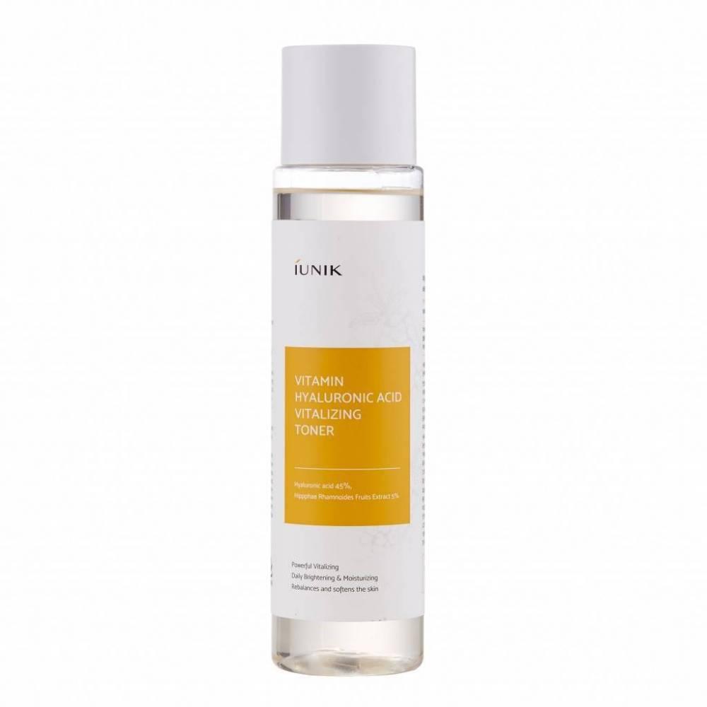 Тонер для интенсивного увлажнения и оживления кожи с гиалуроновой кислотой и экстрактом облепихи IUNIK Vitamin Hyaluronic Acid Vitalizing Toner 200ml