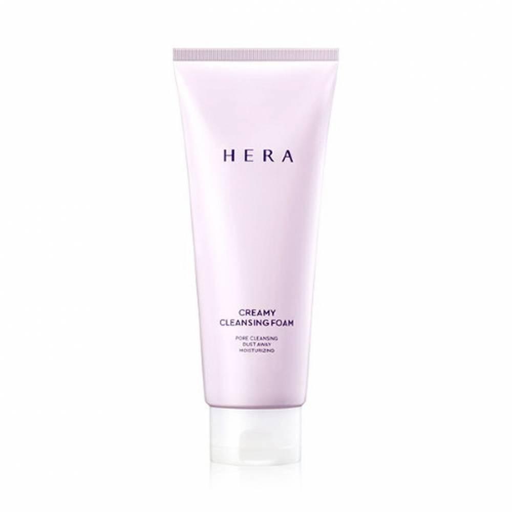 Люксовая пенка для умывания кремовая с экстрактом мяты Hera Creamy Cleansing Foam 50ml