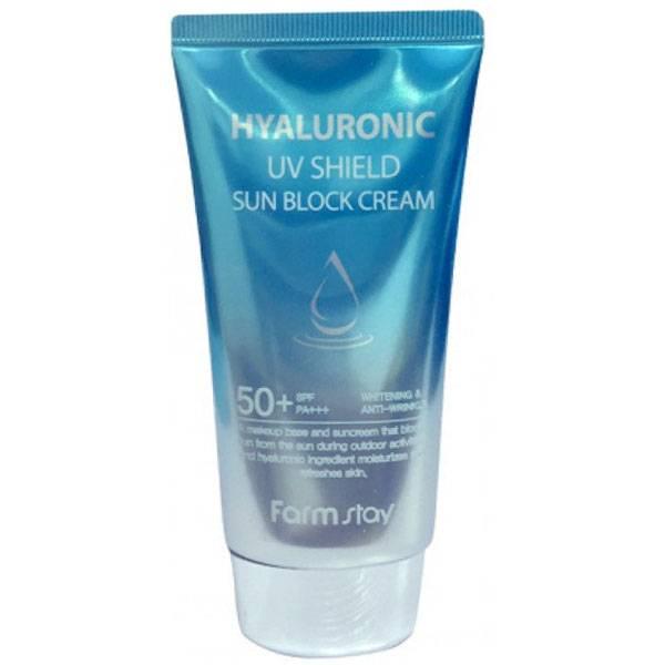 Солнцезащитный крем с гиалуроновой кислотой FarmStay Hyaluronic UV Shield Sun Block Cream SPF50+ PA+++ 70ml