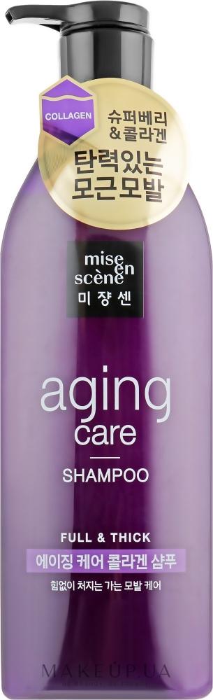 Шампунь антивозрастной с экстрактом черного жемчуга Mise En Scene Aging Care Shampoo 680 ml