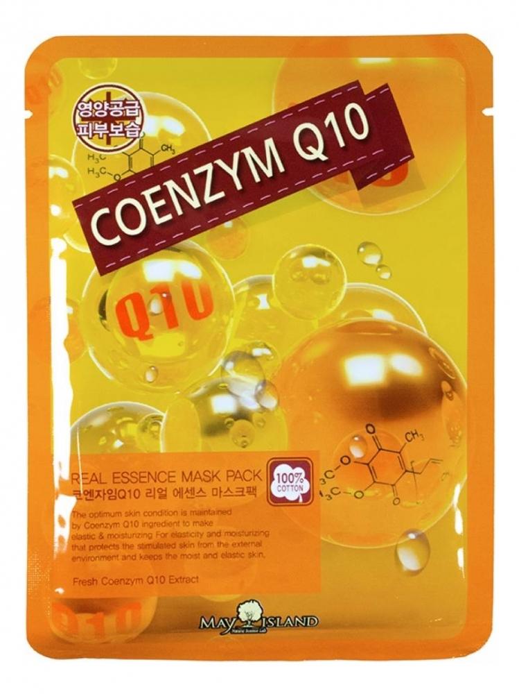 Маска тканевая увлажняющая с коэнзимом для лица May Island Real Essense Coenzyme Q10 Mask Pack 25ml