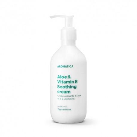 Успокаивающий крем для чувствительной кожи тела Aromatica Aloe & Vitamin E Soothing  Cream 300ml