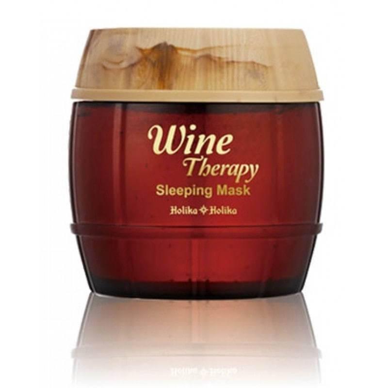 Антивозрастная Маска С Экстрактом Красного Вина Holika Holika Wine Therapy Sleeping Mask Red Wine