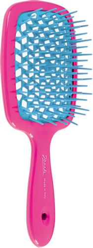 Расческа для волос розовая с голубым Janeke Superbrush