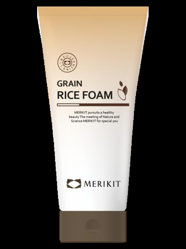 Пена для умывания с экстрактом ферментированного риса Merikit Grain Rice 180ml