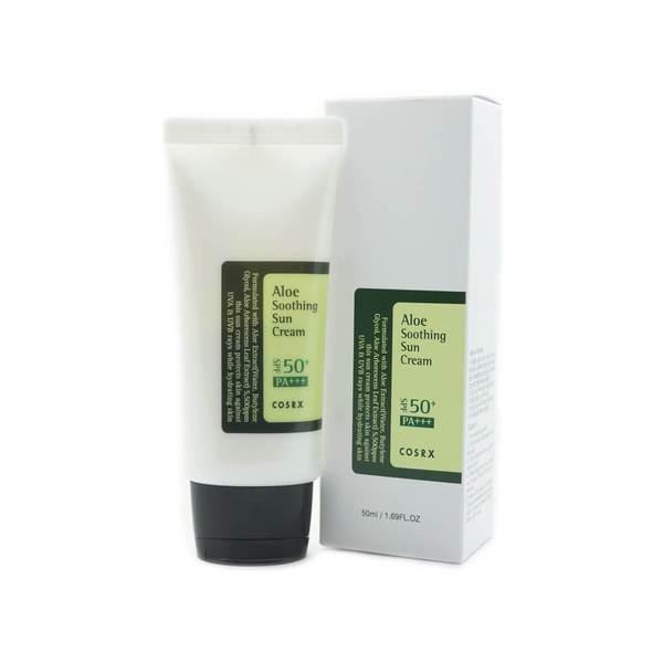 Крем Солцезащитный Для Чувствительной И Жирной Кожи С Экстрактом Алоэ COSRX Aloe Soothing SPF50 PA+++ Sun Cream