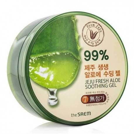 Гель Алое Универсальный Увлажняющий The Saem Jeju Fresh Aloe Soothing Gel 99% 300ml