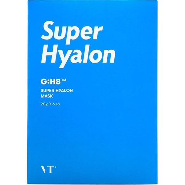 Маска тканевая ампульная увлажняющая с гиалуроновой кислотой для лица Vt Cosmetics Super Hyalon Mask 28g