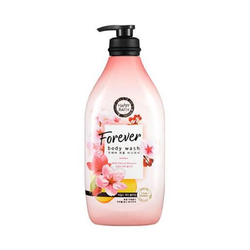 Гель Для Душа Увлажняющий С Экстрактом Цветов Сакуры Happy Bath Forever Wild Cherry Blossom Perfumed Body Wash 900ml