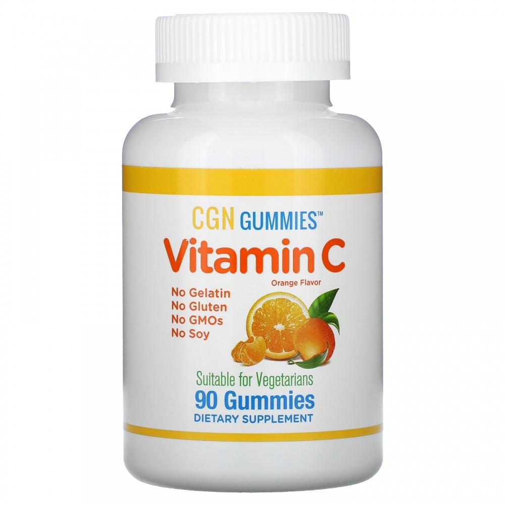 Конфеты жевательные с витамином C California Gold Nutrition Апельсин 90pcs