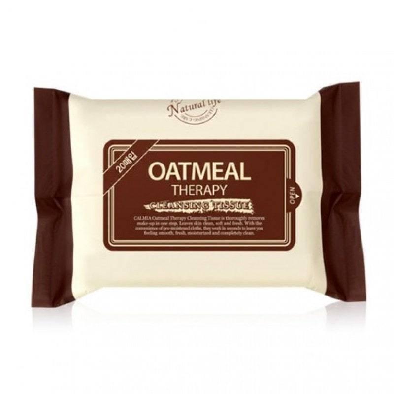 Салфетки Для Снятия Макияжа Увлажняющие Calmia Oatmeal Therapy Cleansing Tissue