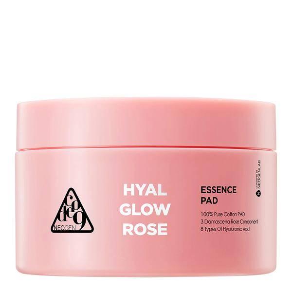 Органические очищающие пэды с дамасской розой Neogen CODE9 HYAL GLOW ROSE ESSENCE PAD 4.56 oz / 135ml (70 PADS)