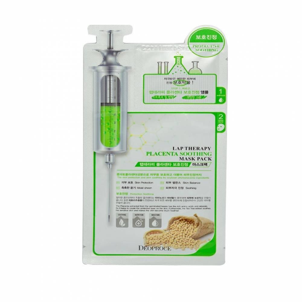 Омолаживающая Маска - Ампула 2х Фазная С Экстрактом Плаценты Deoproce Lap Therapy Placenta Soothing Ampoule Mask Pack